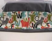 Pillow case; dog-themed fabric pillow case