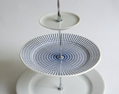 cake stand 3 tier blue and white elegant gift - myamsterdam