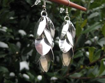 Shiny scale earrings