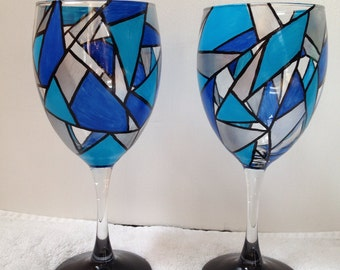 Mosaic Wine Glasses (Set of 2)