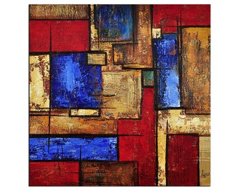 """Acrylic, abstract painting, Original Art by AG: """"FACETTEN"""", Gallery of modern & contemporary  Art The Artmakers"""