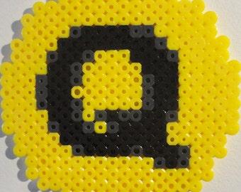 NYC Q Train Symbol Bead Sprite