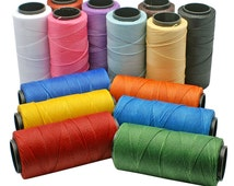 BULK Multi-Color: Waxed Polyester Cord 1mm /12 packs of 25ft / Hilo Encerado / Cording, Stringing, Macrame cord, Thread, Knotting