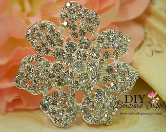 Large Rhinestone Brooch - Wedding Brooch Pin Accessories - Wedding Jewelry - Crystal Brooch Bouquet - Bridal Brooch Sash Pin 50mm 342198