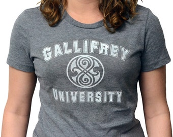 Doctor Who Gallifrey University - Ladies Fitted T-Shirt