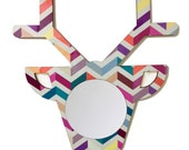 Deer zig zag mirror , home decor or for child's room - BabysitterDesign