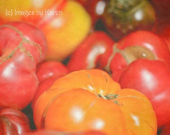 Food Photography, Vegetable Photography - Heirloom Tomatoes