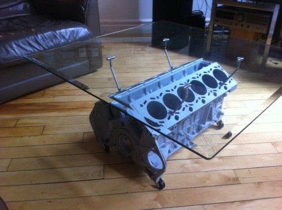 items similar to bmw v12 m70 engine block coffee table on etsy. Black Bedroom Furniture Sets. Home Design Ideas
