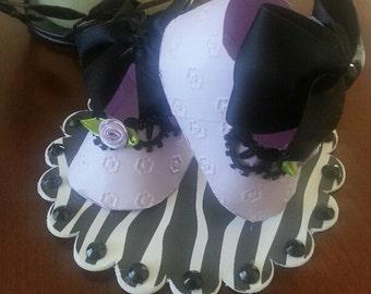 Lavender Zebra Shoe Topper