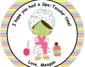12 Personalized Spa Spa-Tacular Birthday Party Supplies Favor Thank ...