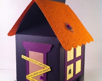 Halloween Paper House - Cupcake House / Favor Box / Goody Bag
