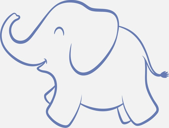 Exceptional image inside printable elephant stencil