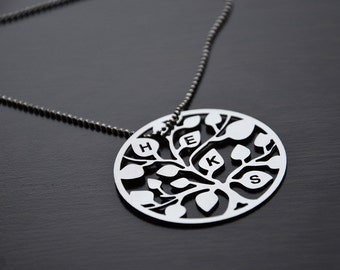 Personalized Tree Necklace - Personalized necklace - Tree necklace - Stainless Steel