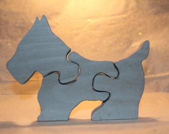 Small (3-piece) Schnauzer Puzzle
