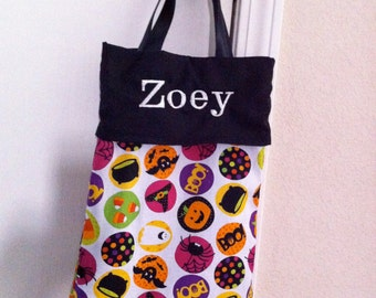 Trick or Treat bag - Halloween bag - Personalized - Monogrammed