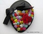 Sweet Treat Fascinator Lollipop Hearts Bow Black ONE OF A KIND