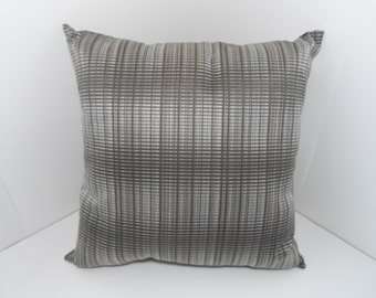 Beautiful Handmade18x18 Pillow Cover with Natural Colors in a Contemporary Design,same fabric on both sides.
