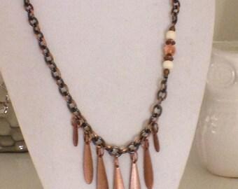 "Copper Beauty!  18"" Necklace Copper necklace// copper beads //"
