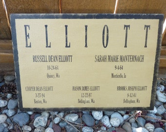 Personalized Family Tree Wood Sign - Handpainted and Lightly Distressed - Great Gift