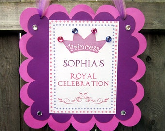 Princess Birthday Party Sign