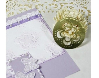 vintage flower stencial for Paper Crafting Brass embossing stencil