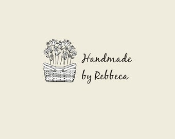 """Custom Logo Stamp ( 2"""" x1"""" ) -Birds Custom Stamp - handmade Stamp - Personalized Rubber  Stamp-Clear Rubber Stamp"""