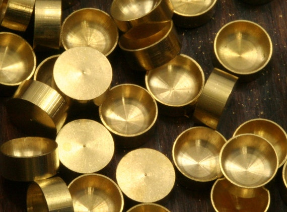500 PCS Raw Brass 2-3-4-5-6 mm Pendant finding Settin