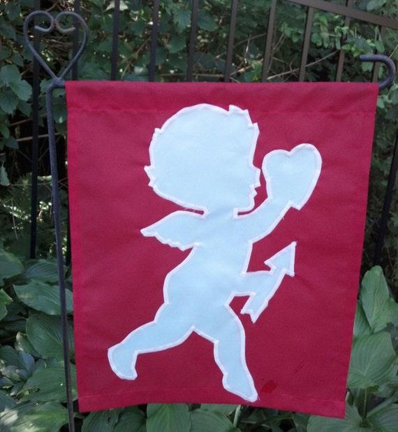 valentines day cupid garden flags