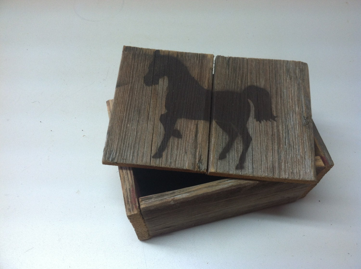 Horse jewelry box handmade wooden by faithingodranchshop for Jewelry box made of wood