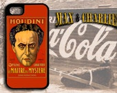 Vintage Harry Houdini Poster  iPhone 6/5/5c/4 Case -Samsung Galaxy S3/S4/S5 Case-Phone Cover