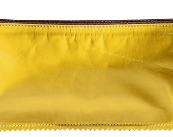 Yellow Leather Pouch