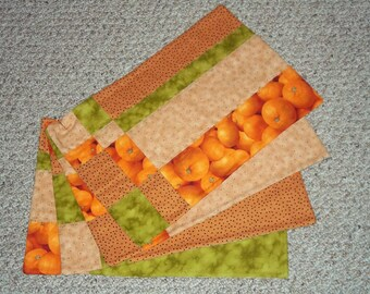 Quilted Patchwork Placemats, set of 4