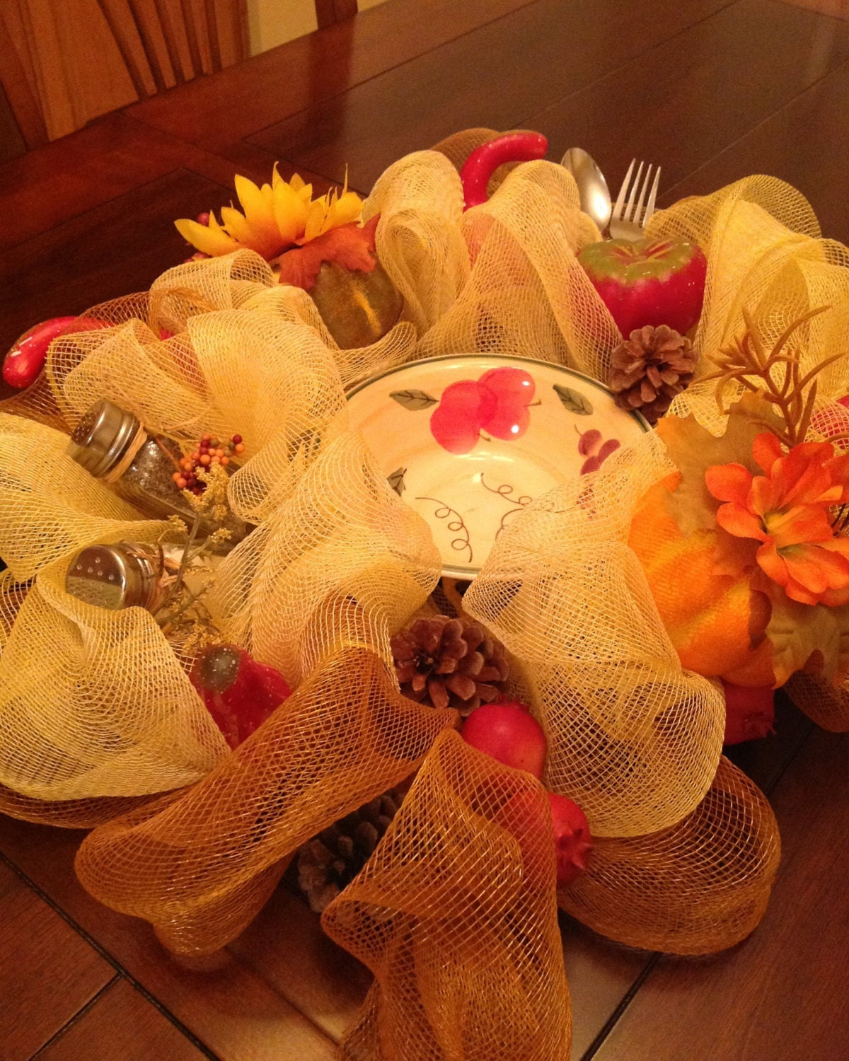 fall harvest centerpiece by naemakesomecraftshop on etsy