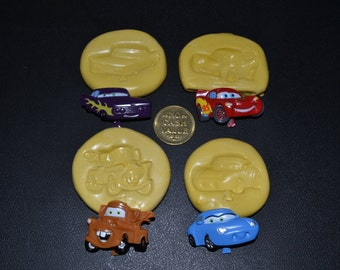 Set of Cars Silicone molds