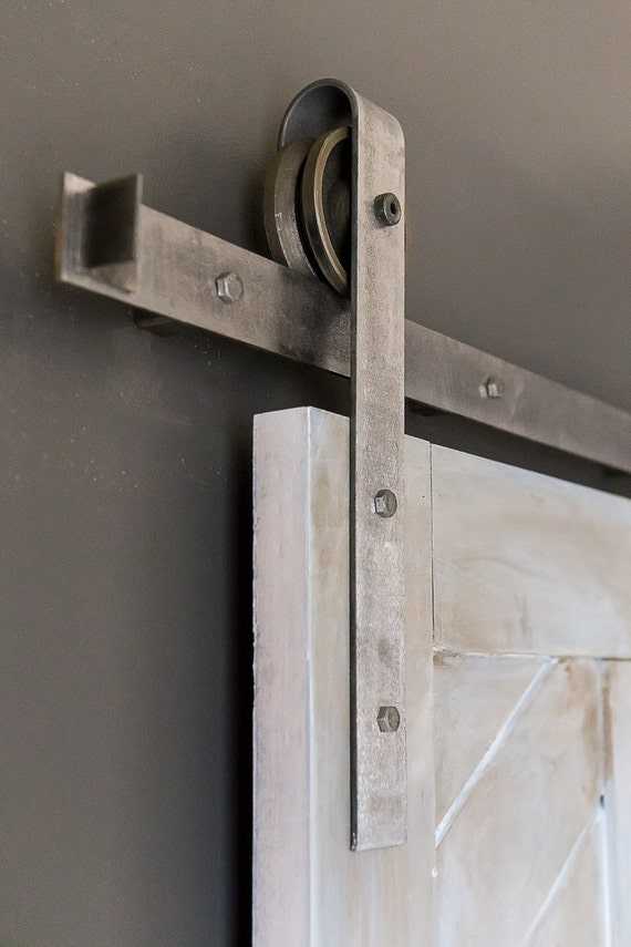 Heavy Duty Industrial Sliding Barn Door Closet By
