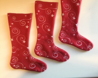 Machine Embroidered Christmas Stocking