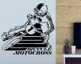 Popular items for motorcycle jump on etsy for Dirt bike bedroom ideas