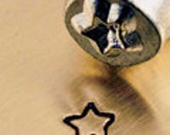 Fun Star Design Metal Stamp 3mm, Steel Punch for Metal Stamping Jewelry Crafts, Steel Stamp