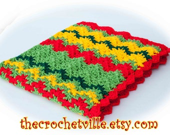 Strawberry Salad Baby Blanket-Red yellow green