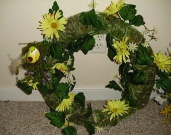 Spring wreath w/ little birdies!