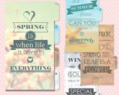 Personal Seasonal Page Dividers Downloadable Filofax pages