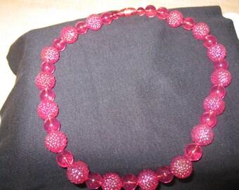 "SALE: Vintage 18"" SUMMER BERRIES Necklace"