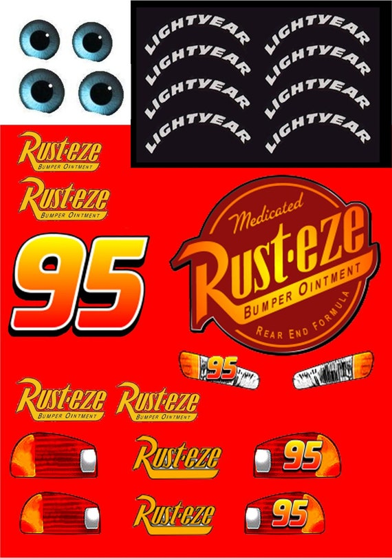 Unusual image regarding lightning mcqueen printable decals