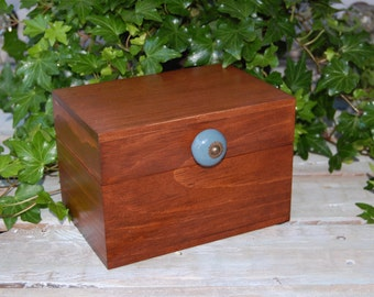 Rustic Handcrafted Large Recipe Box/ Wood Recipe Box/ Rustic Wedding Decor/Rustic Chic Wedding Decor/Handmade Recipe Box