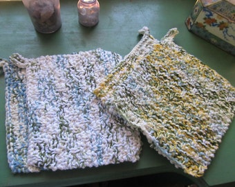 Hand Knitted Potholders