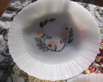 Set of 3 Fire King Termocrisa Mexican Milk Glass Plates