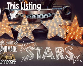 Marquee Star, Marquee Letter, Lighted Metal MARQUEE SIGN Marquee Light Fixture: Bronze Star
