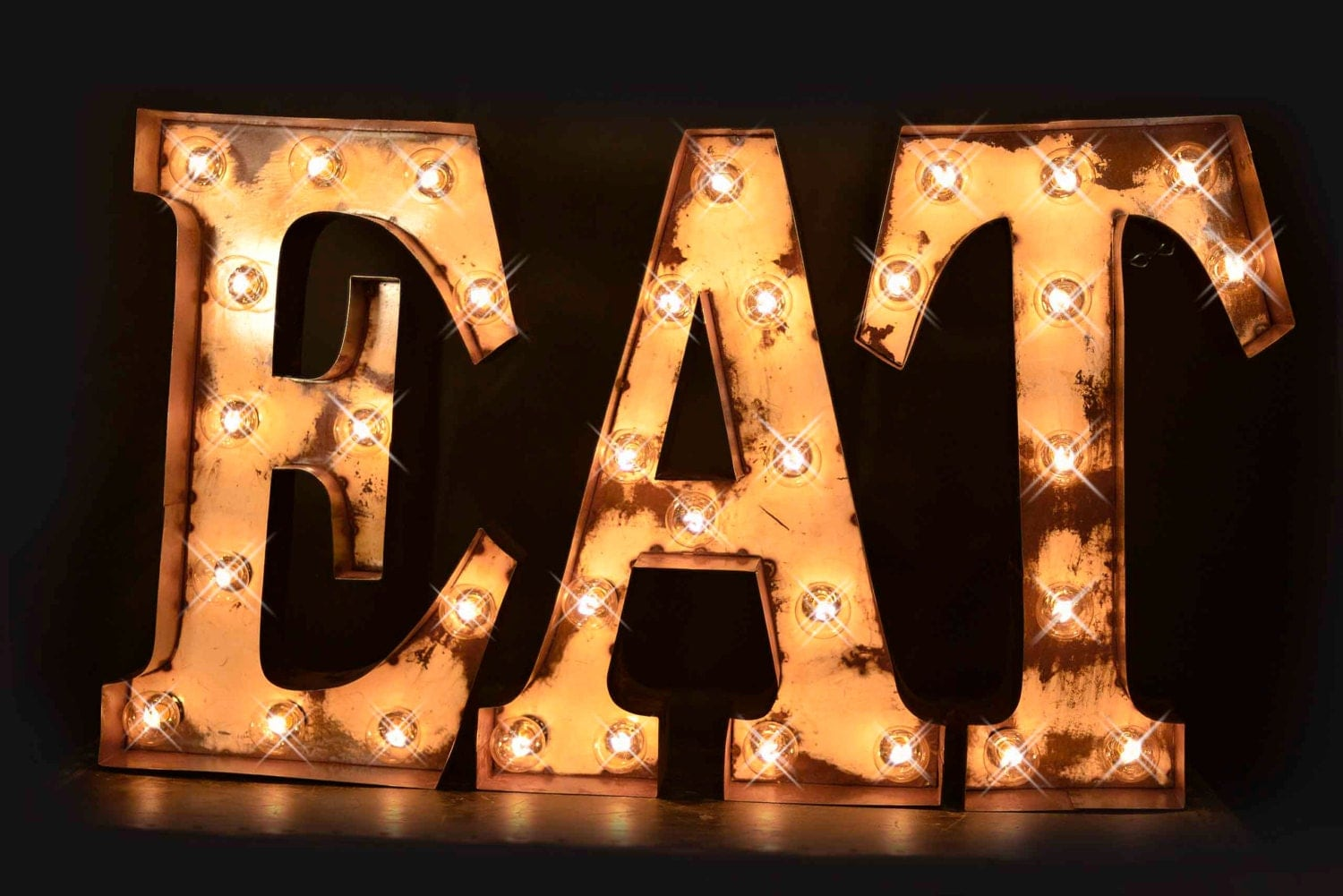 Marquee Letter Eat Sign Cafe Sign Lighted Marquee Sign