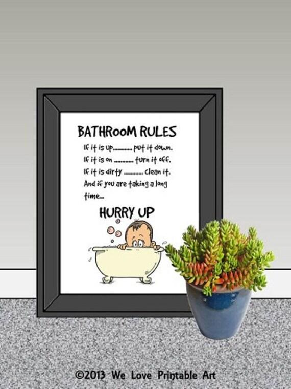 Funny Bathroom Art Bathroom Art Prints By WeLovePrintableArt