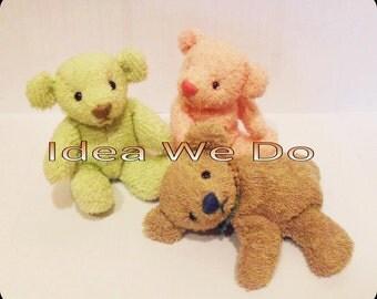 PDF - Sit Teddy Bear (size S) : Bear pattern (only pattern&description , NO instruction).